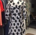 CC Couture Black/Taupe Dotted Design Coat Size 6 (S) CC Couture Black/Taupe Dotted Design Coat Size 6 (S) Image 2