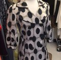 CC Couture Black/Taupe Dotted Design Coat Size 6 (S) CC Couture Black/Taupe Dotted Design Coat Size 6 (S) Image 3