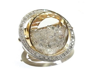 Floating diamonds orbit 18 k gold 3.5 carats diamond