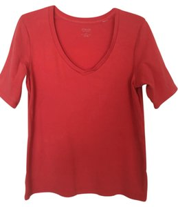 Chico's Neck T Shirt Coral