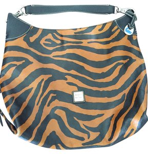 Dooney & Bourke Zebra Leather Like New Shoulder Bag