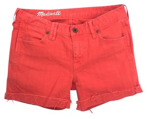 Madewell Cut Off Shorts coral