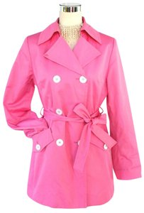 Jones New York Lined Cute Double Breasted Pink Jacket