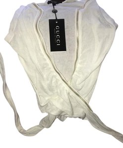 Gucci Top White with silver stitching