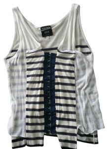 Jean-Paul Gaultier Top Cream and Navy