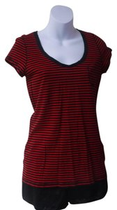Maurices T Shirt red/black strips