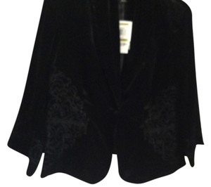 Style & Co. Petite Velvet Evening Jacket Top Black