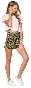 Topshop Leopard Print Camouflage Shorts Pink and Olive Green