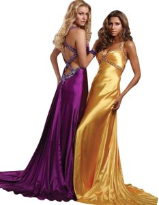 Jasz Couture Full Length Formal Beaded Prom Open Back Dress