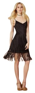 Jessica Simpson short dress Black Fringe Flapper Festival Cocktail on Tradesy