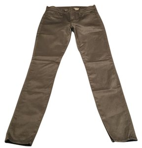 7 For All Mankind Skinny Pants grey olive gray