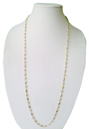 Alainn Alainn Gold Crystal Long Necklace