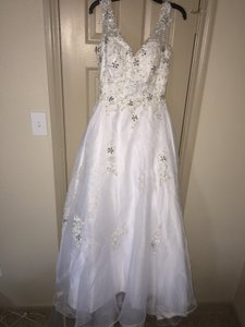 Others Follow Ball Grown White Dress With Beading. Wedding Dress