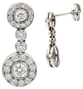 Tiffany & Co. Tiffany & Co. Circlet Diamond Drop Earrings in Platinum