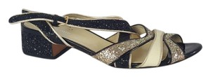 Miu Miu Glittered Grey and black Sandals