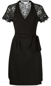 Diane von Furstenberg Wrap Tie Lace Dress
