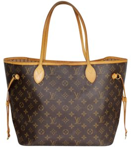 Louis Vuitton Neverfull Mm Monogram Canvas Tote in Brown/Tan