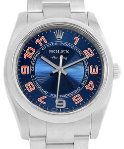 Rolex Rolex Air King Blue Concentric Dial Arabic Numerals Watch 114200