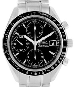 Omega Mens Omega Speedmaster Black Dial Automatic Date Watch 3210.50.00