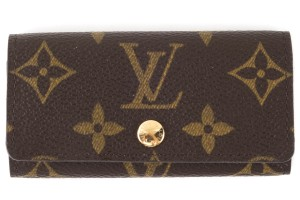 Louis Vuitton Louis Vuitton brown monogram Ebene coated canvas key holder wallet