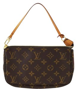 Louis Vuitton Lv Pochette Accessories Monogram Handbag Pouch Shoulder Bag