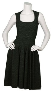 ALAÏA Skater Fitted Flare Sleeveless Dress