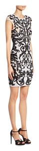 Alexander McQueen short dress White & Black Fit & Flare Floral Italy on Tradesy
