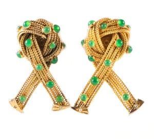 Dolce&Gabbana Dolce & Gabbana gold-tone knotted rope clip on earrings
