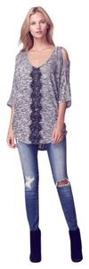 Jessica Simpson Cold Lace V-neck Bohemian Sweater