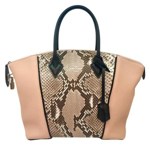 Louis Vuitton Python Tote in pink