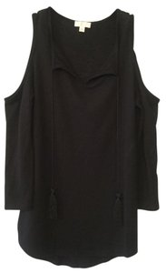 Charming Charlie Cold 3/4 Sleeve Top Black