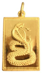 Other 22K YELLOW GOLD CHINESE BIRTH ZODIAC YEAR OF THE SNAKE CHARM 3.9 GRAMS