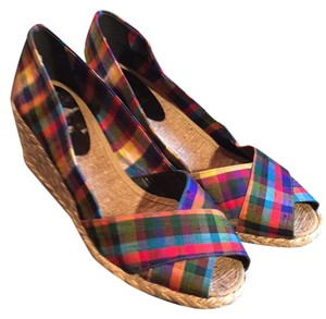 Ralph Lauren multiple plaid Wedges