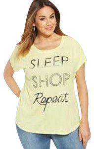 Style & Co Graphic Scoop Neck T Shirt Yellow