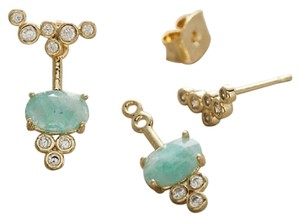 Anthropologie NWT Front-Back Stone Earrings