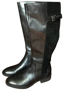 Sam Edelman Leather Suede Riding Equestrian Black Boots