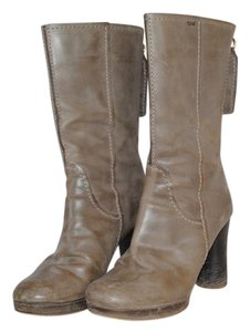 Chloé Chloe Neutral Leather Taupe Boots