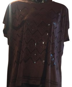 Chico's Top coquette brown
