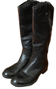 Merona Genuine Leather Brown Equestrian Black Boots