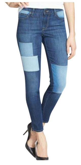 Item - Blue Wisdom Patched Ankle Skinny Jeans Size 30 (6, M)
