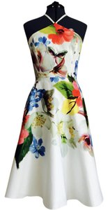 Ted Baker short dress Multicolor Floral Halter London White Easter on Tradesy