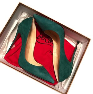 Christian Louboutin Forest Green Pumps