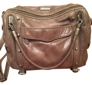 Rebecca Minkoff Leather Satchel in Taupe