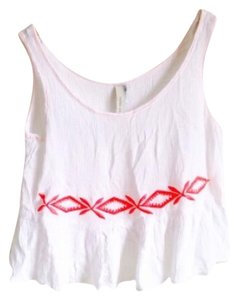 Urban Outfitters Top White Pink