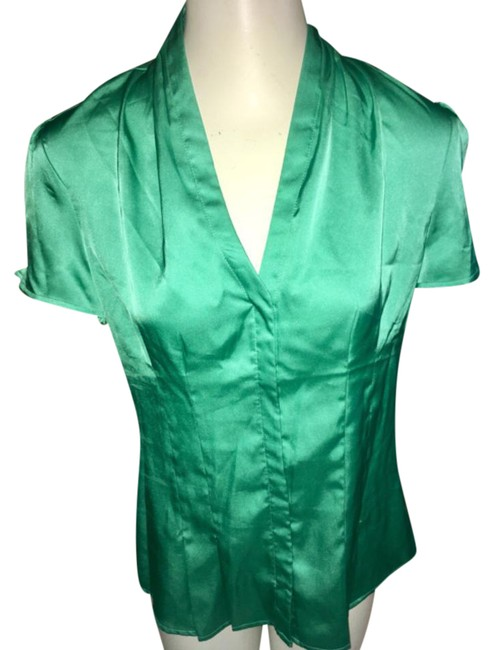 Preload https://img-static.tradesy.com/item/21031647/express-green-shiny-blouse-size-8-m-0-1-650-650.jpg