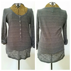 Splendid Henley Striped Anthropologie Buttons Sweater