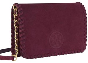 Tory Burch maroon Clutch