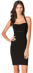 bebe Bandage Bodycon Studded Lbd Embellished Dress