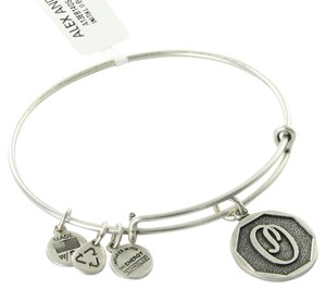 Alex and Ani Bracelet A13EB14OS Octagon Initial O Expandable EWB Russian Silver