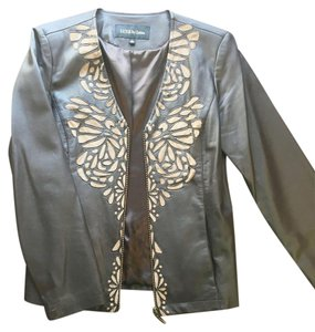 Luxe by Irina Brown Leather, Tan Suede Jacket